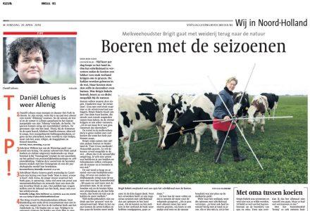 Wij in Noord Holland - Boeren met de seizoenen