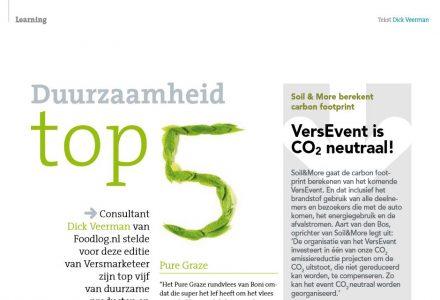 Vers Magazine - Duurzaamheid top 5