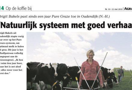 Agraaf - Natuurlijk systeem met goed verhaal 22-05-2010