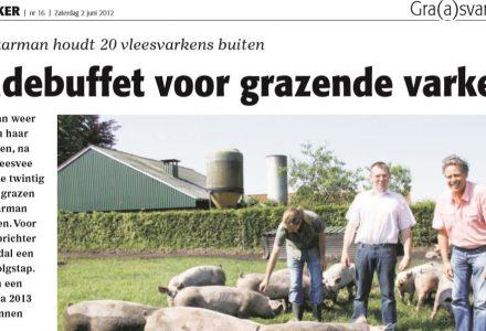 Stal en Akker - Saladebuffet voor grazende varkens 06-2012