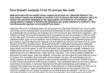 Janet Beekman - Pure Graze®: kostprijs 13 tot 14 cent per liter melk