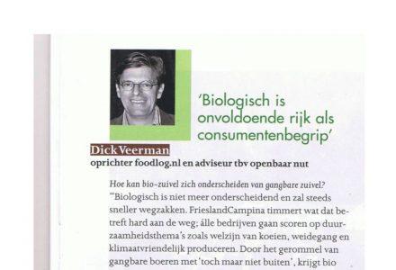 Dick Veerman - Biologisch is onvoldoende rijk als consumentenbegrip