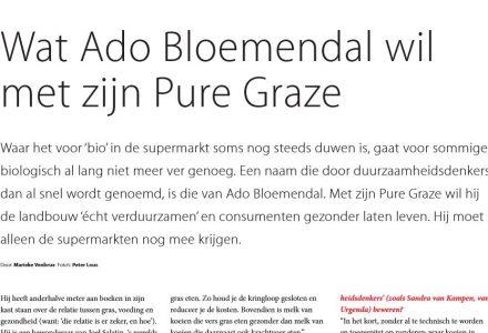 Foodpersonality - Wat Ado Bloemendal wil met zijn Pure Graze