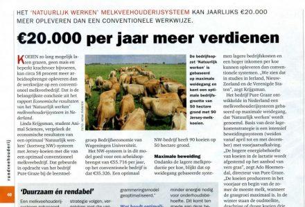 Rundveehouderij - €20.000 per jaar meer verdienen